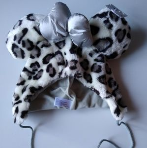 Disney Mickey Ear Hat Leopard Print with bow